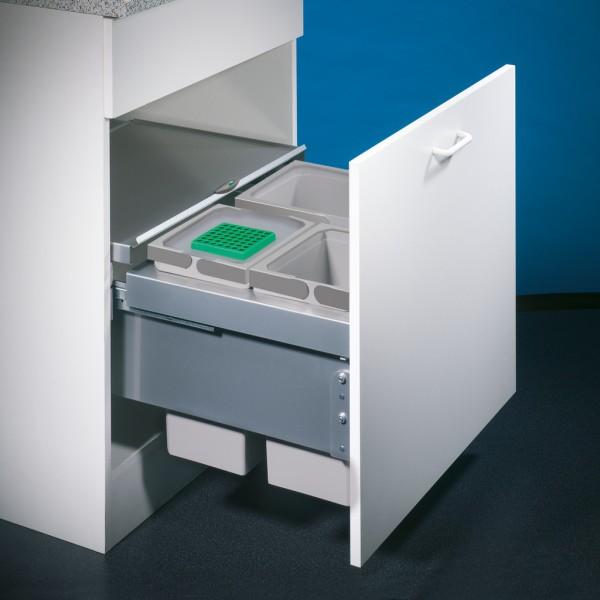 8012305 - Cox® Base 360 S/600-3, Abfallsammler mit Frontauszugssystem., ohne Biodeckel, hellgrau, H
